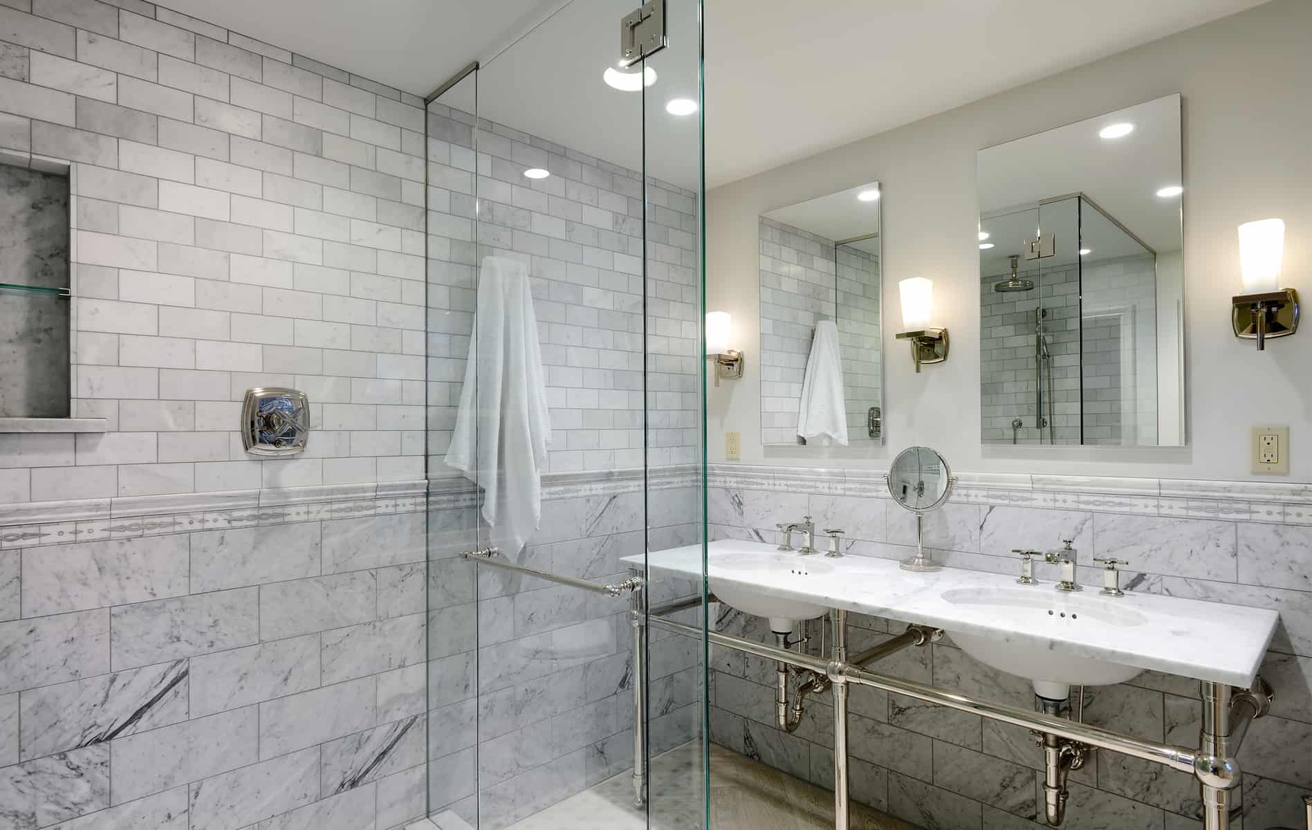7 smart strategies for bathroom remodeling biederman for Pictures of remodel bathrooms